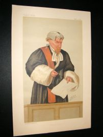 Vanity Fair Print 1887 Justice W. U. Field, Judge